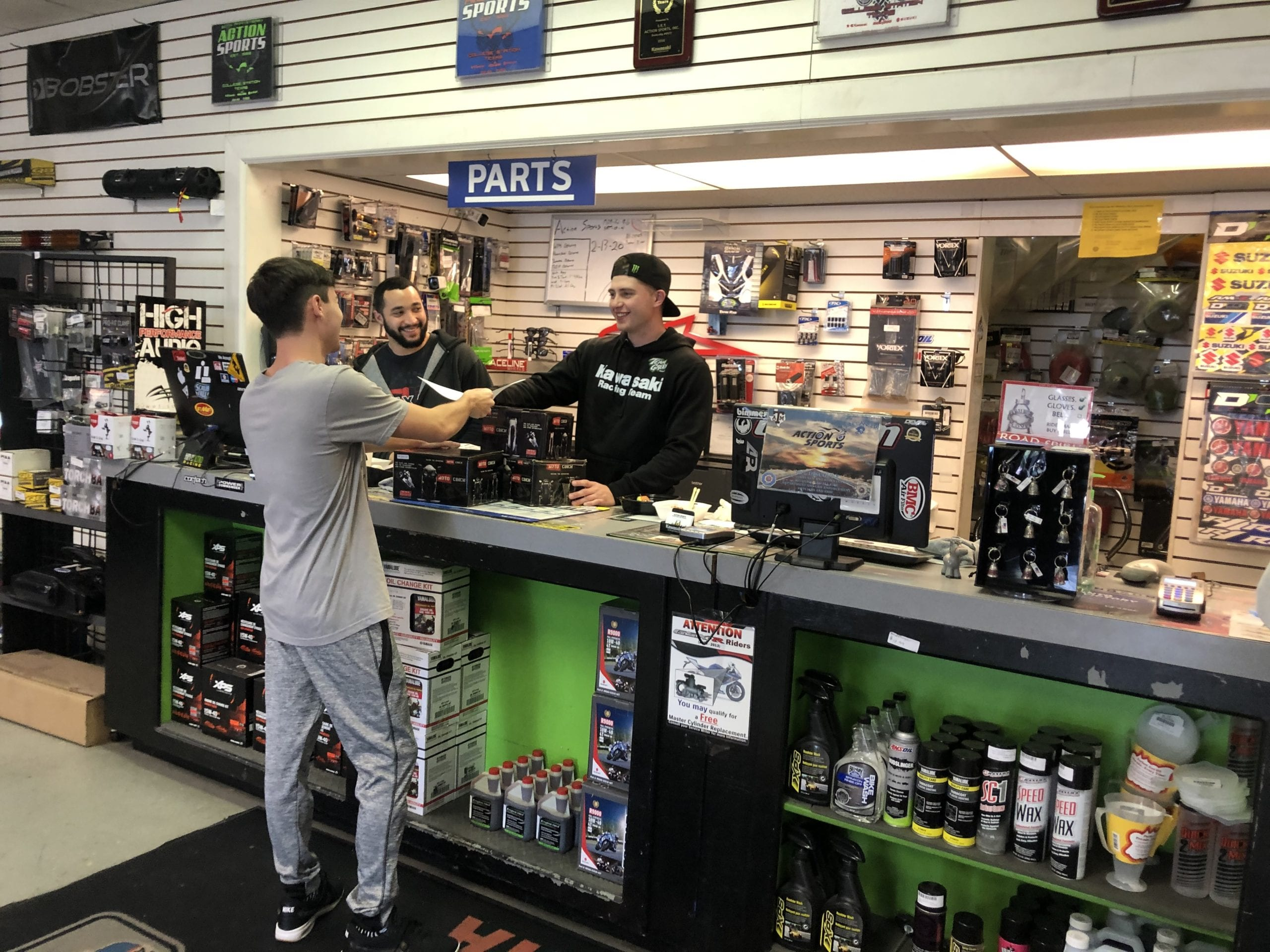 Purchasing at dealership